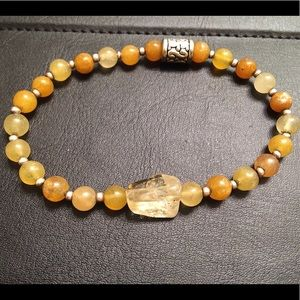 Men's Bracelet: Citrine & Quartzite ANena Jewelry